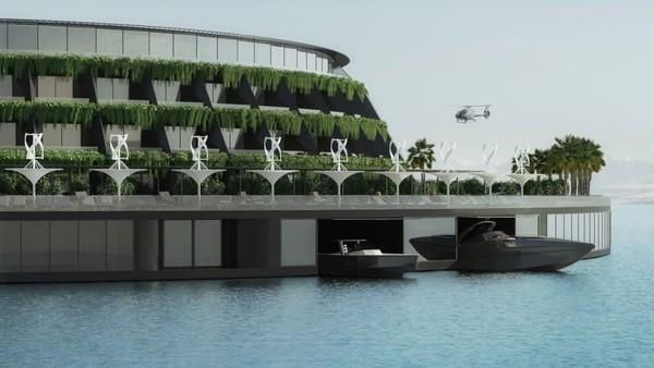 Proyek hotel mewah dan ramah lingkungan ini dikerjakan bersama para insinyur dan arsitek konstruksi kapal. Proses pengerjaannya dimulai sejak Maret 2020. Foto: Hayri Atak Architectural Design Studio/CNN