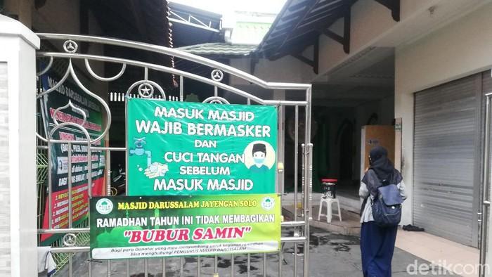 Pengumuman tak ada pembagian bubur samin khas Banjar saat Ramadhan di Kota Solo