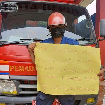 Petugas Damkar Depok Sandi Bongkar Dugaan Korupsi di Dinas Damkar Depok