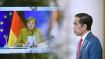 Bertemu Virtual Angela Markel, Jokowi Sebut Kasus COVID-19 di RI Membaik