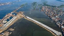 Potret Proyek Tol Semarang-Demak dari Udara