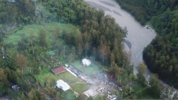 Sebanyak 12 unit bangun sekolah yang dibakar KKB di Kampung Julukoma, Distrik Beoga, Kabupaten Puncak (ANTARA News Papua/HO-Humas Polsek Beoga)