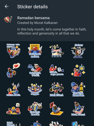 Stiker WhatsApp bertema Ramadhan