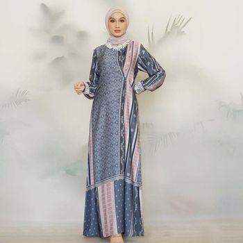 Koleksi motif print dari Vanilla Hijab.