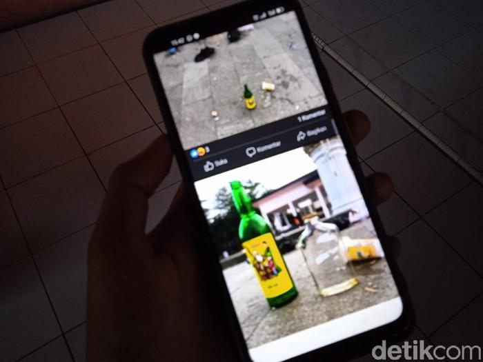 Botol Miras Berserakan di Taman GGM Majalengka