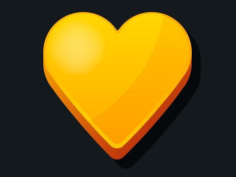 3d Heart icon. Cartoon style. Love, valentines day, wedding icon concept. Vector illustration.