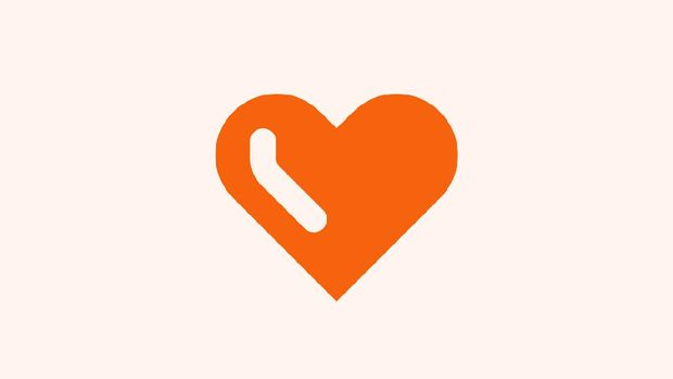 Heart Love vector icon. Isolated Love Heart flat colored symbol - Vector