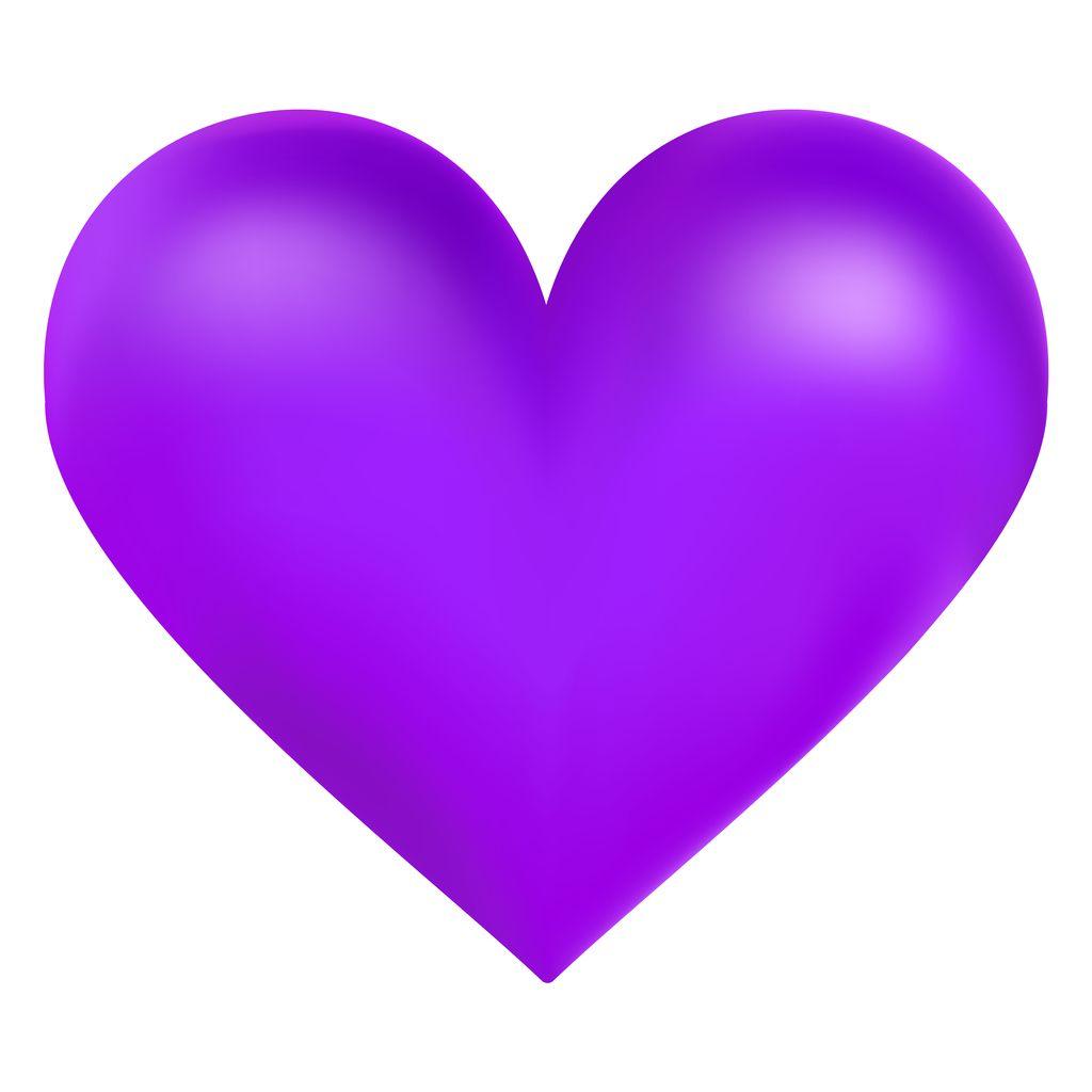 Violet trendy color big heart, vector illustration