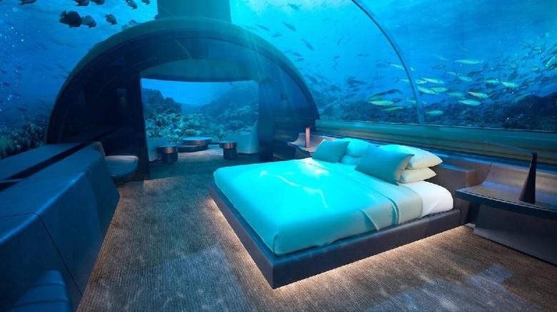 Hotel bawah laut di Maldives