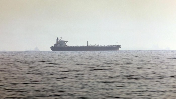 A ship is pictured off the coast of Fujairah in the United Arab Emirates on April 14, 2021. - An Israeli-operated ship was attacked off the UAE opposite the Iranian coast, Israeli media said, in the latest apparent escalation between the Jewish state and the Islamic republic. Security sources, quoted by Israels Channel 12 television, said the vessel Hyperion Ray was lightly damaged near the Emirati port of Fujairah, with Iran suspected of carrying out the attack. (Photo by Giuseppe CACACE / AFP)