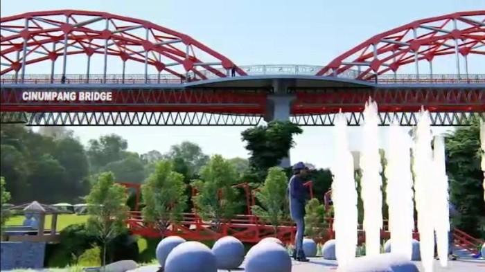 Jembatan ikonik sekaligus objek wisata segera dibangun di Sukabumi