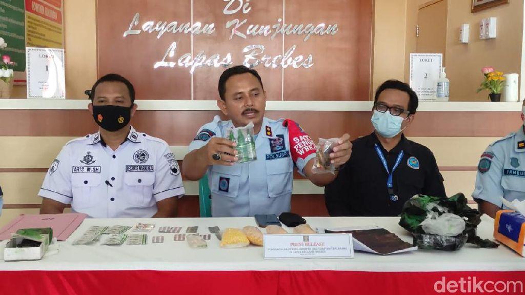 Petugas Temukan Ribuan Butir Psikotropika yang Dilempar ke Lapas Brebes