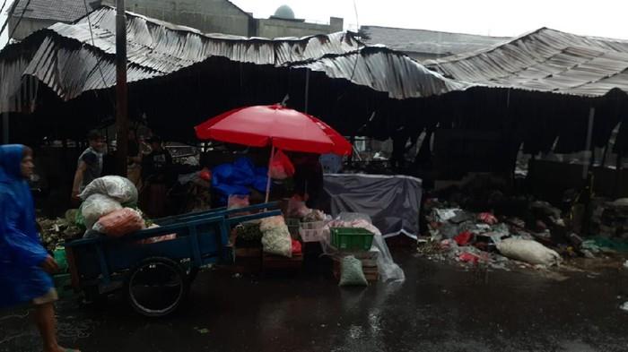 Konidisi Pasar Kambing, Tanah Abang usai sepekan terbakar.