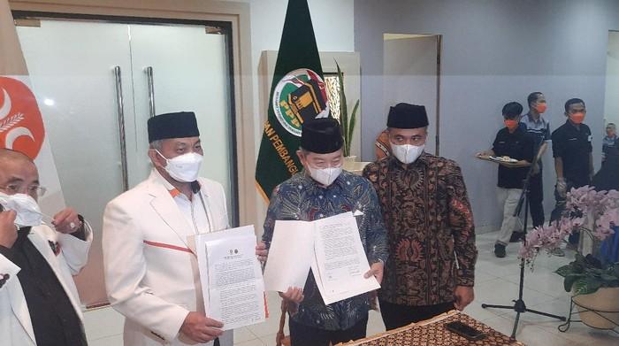 Pertemuan Presiden PKS dan Ketum PPP (Rahmat Fathan-detikcom)