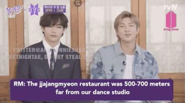 Selain Es KRIM, RM BTS Pernah Diam-diam Makan Jjajangmyeon saat Masih Trainee