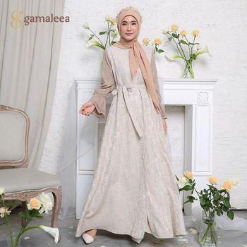 Koleksi long dress dari Gamaleea.id.