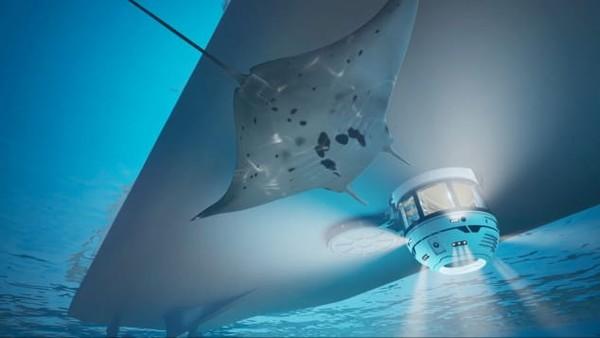 Hydrosphere diluncurkan oleh Gresham Yacht Design. Konsep itu datang seiring dengan meningkatnya permintaan akan kapal selam pribadi.