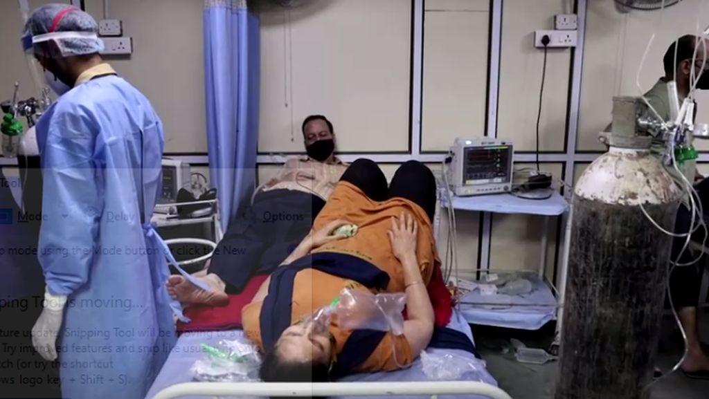 Di India, Satu Tempat Tidur Diisi Dua Pasien Covid-19