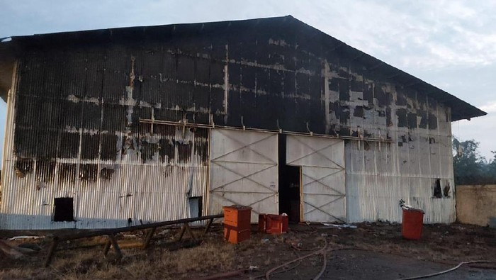 Gudang logistik Pertamina di Rantau, Aceh Tamiang terbakar.