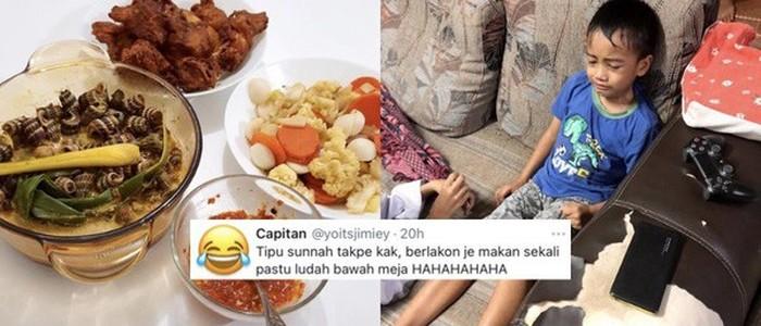 Kocak! Telat Bangun, Bocah Paksa Keluarga Makan Sahur Lagi Setelah Imsak