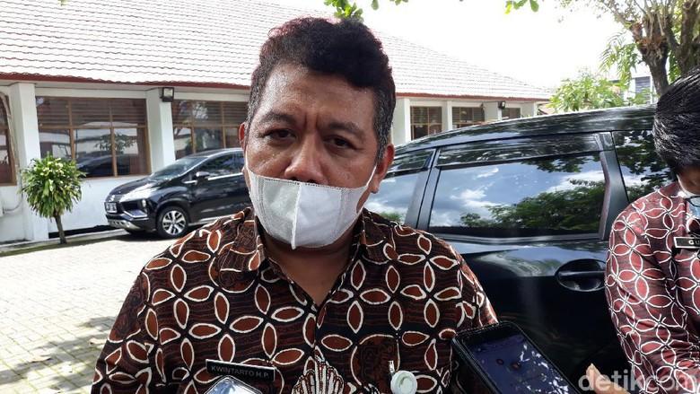 Kepala Dispar Kabupaten Bantul Kwintarto Heru Prabowo saat memberikan keterangan.