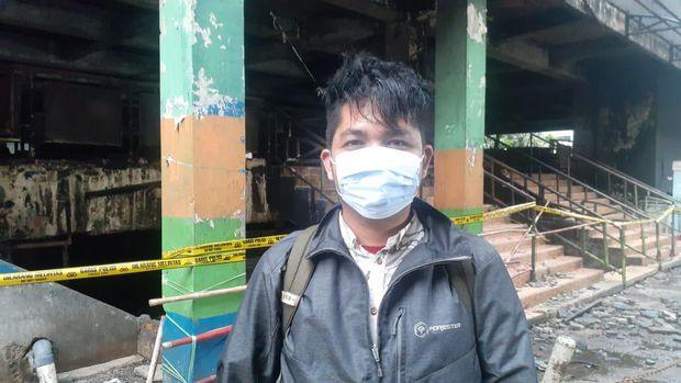 Pedagang korban kebakaran Pasar Minggu Muhammad Kiki,
