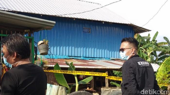 Rumah terduga teroris inisial MT di Kota Makassar yang ditembak mati polisi.