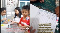 Seru! Wanita Ini Ajak Anak-anak di Kompleks Rumahnya Jualan Makanan