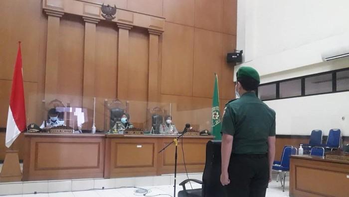 Sidang Prada Ilham di Pengadilan Militer Jakarta (Ilman-detikcom)