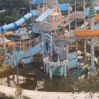 Wahana Atlantis Ancol terbengkalai karena pandemi (tangkapan layar video viral)