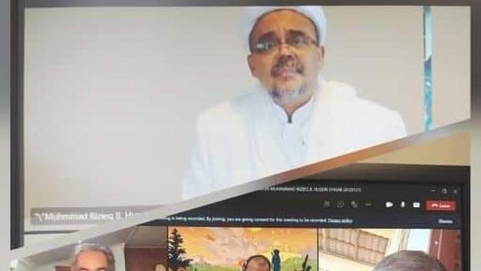 Habib Rizieq ikuti sidang disertasi secara daring (dok. Pengacara HRS)