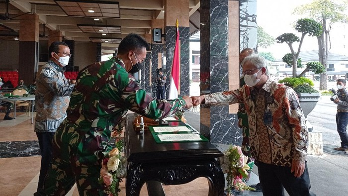 Jenderal Andika Teken MoU Pembiayaan 10.000 Rumah Prajurit TNI AD (Foto: Wilda Nufus/detikcom)