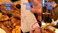 Pamer Bon Makan di Restoran Rp 18,7 Juta, Wanita Ini Dihujat Netizen