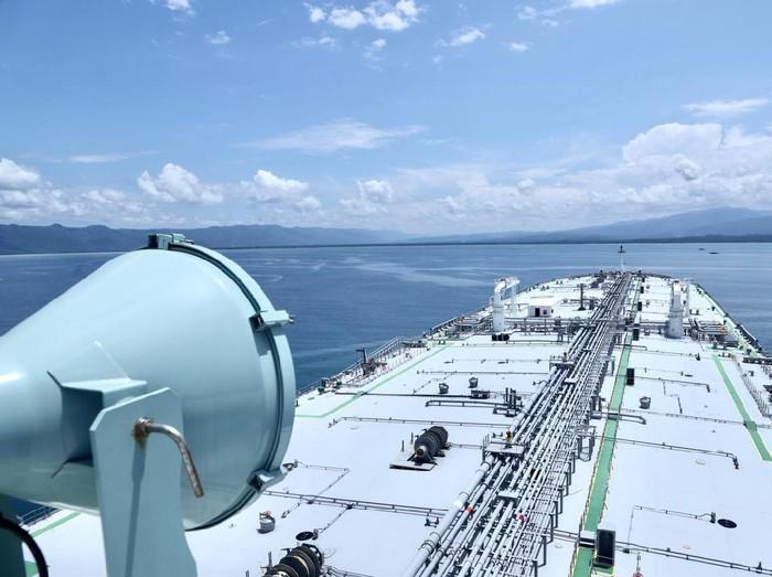 Kapal tanker raksasa milik Pertamina tiba Indonesia setelah berlayar dari Jepang