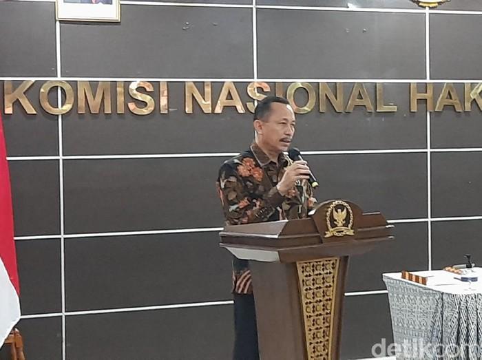 Ketua Komnas HAM, Ahmad Taufan Damanik. (Rahmat Fathan/detikcom)