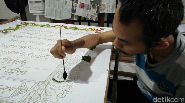 Penulisan Al-Qur'an batik di Solo