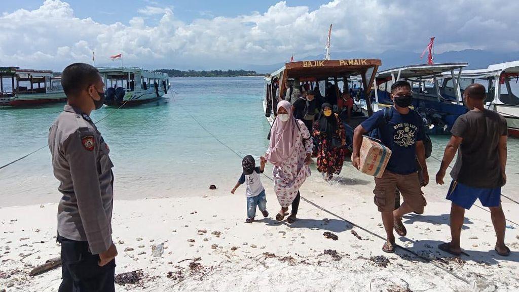 Polda NTB Perketat Prokes di Pintu Wisata Pulau Gili Meno