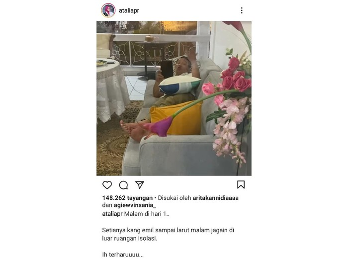 Atalia membagikan momen Ridwan Kamil jadi suami siaga