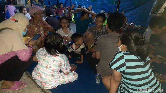 Lokasi pengungsian warga terdampak dari kebakaran di Keagungan, Taman Sari, Jakbar.