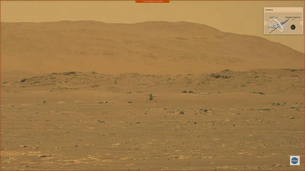 Helikopter NASA Sukses Terbang di Mars