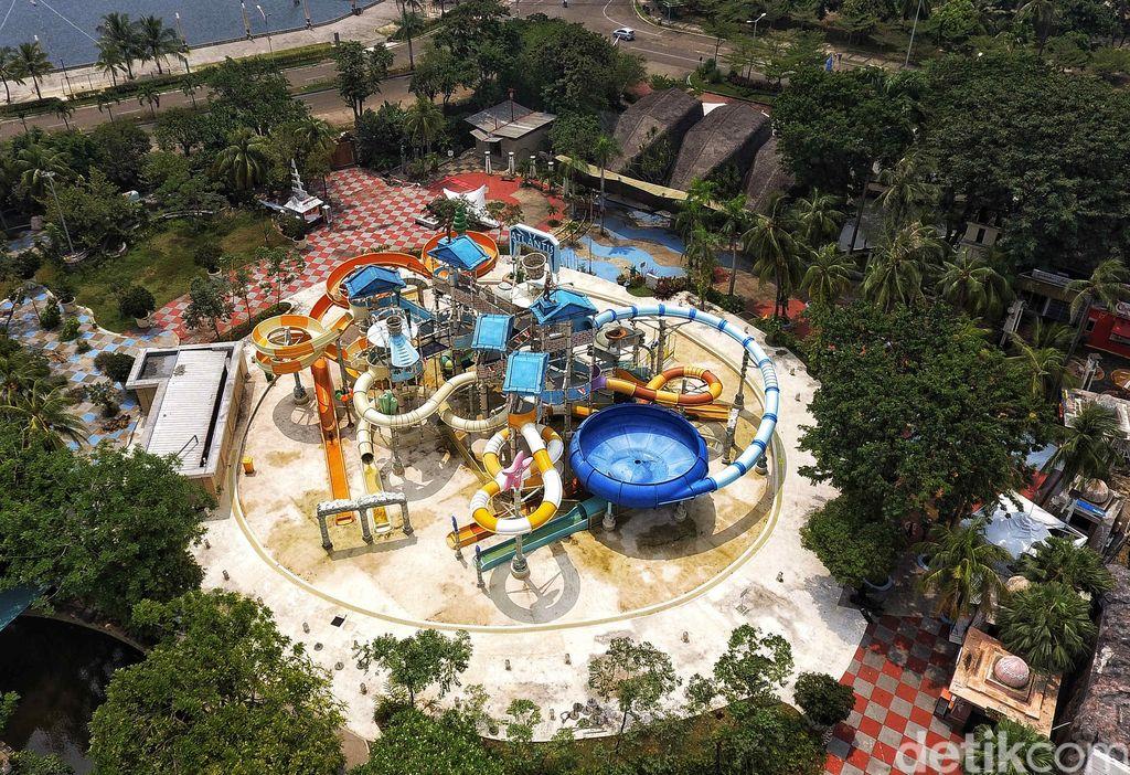 Kondisi terkini kolam renang Atlantis setelah ditutup setahun