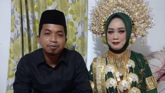 Pernikahan anggota DPRD Jeneponto Fraksi Gerindra dengan wanita yang ngaku dihamili (dok. Istimewa).