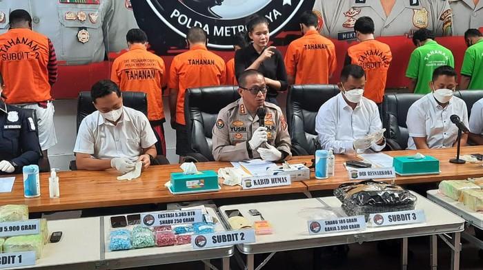 Polda Metro tangkap jaringan narkoba