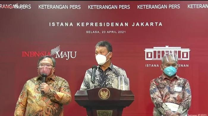 Bambang Brodjonegoro (pertama dari kiri)/Andhika-dBambang Brodjonegoro (pertama dari kiri)/ BPMI Setpres