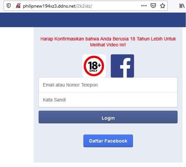 Facebook Kena Tag Link Porno yang merupakan phising