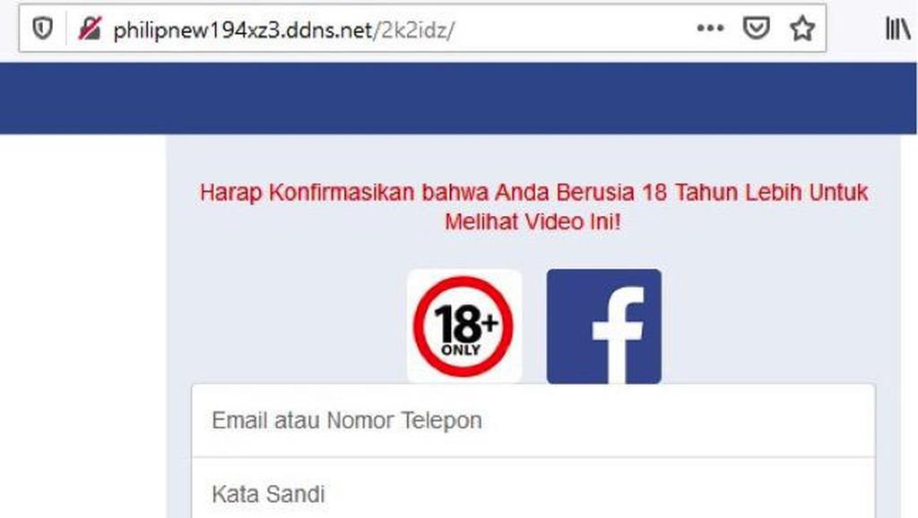 Tag Link Porno Facebook Ampuh Jerat Korban, Waspadalah!