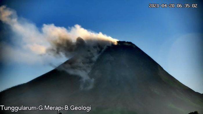 Gunung Merapi erupsi, 20/4/2021