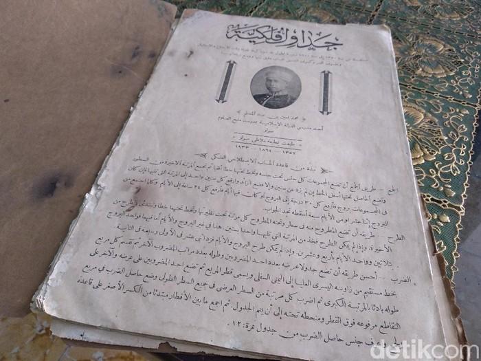 Kitab Jadwal Falakiyah karya Muhammad Amin, Selasa(20/4/2021).