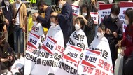Protes Jepang Buang Limbah Nuklir ke Laut, Mahasiswa Korsel Cukur Rambut