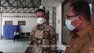 Momen Wagub Sumut Marah Lihat Lokasi Swab Berantakan